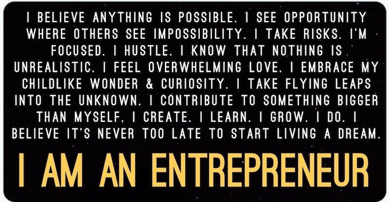 I am an entrepreneur life lessons